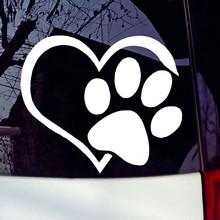 Paw Heart Print Vinyl Decal Car Stickers  Removable Decals Home Decoration Styling Decor AY1882