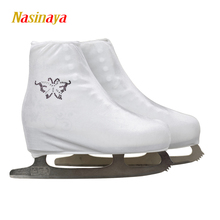 24 Colors Child Adult Velvet Ice Skating Figure Skating Shoes Cover Roller Skate Fabric Accessories White Purple Rhinestone