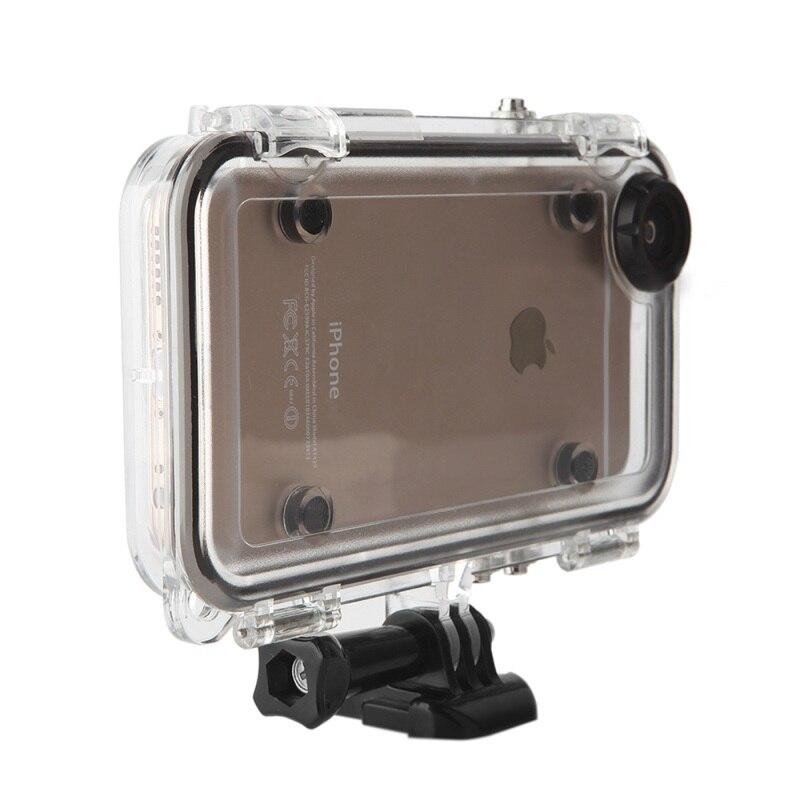 imágenes para Para el iphone se 5s 5 deportes al aire libre a prueba de agua cubierta del teléfono case con lente gran angular para iphone se/5s/5