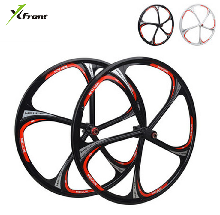 New MTB lightweight magnesium alloy 5 cutter wheels 26 inches bicycle wheel mountain bike wheels mtb magnesium alloy wheels 26 inches bicycle wheel disc brake mountain bike bearing wheelset