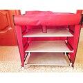 Bastidores de zapatos gabinete bastidores de almacenamiento de gran capacidad de una sola fila no tejido del zapato muebles para el hogar