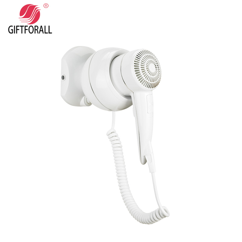 GIFTFORALL Hairdryer Portable ot and cold windHotel Powerful Mounted Professional Styling hBathroom Home Mini hairdryer C135 giftforall hair dryer hotel bathroom home professional hair salon powerful wall mounted portable mini hairdryer d139 d