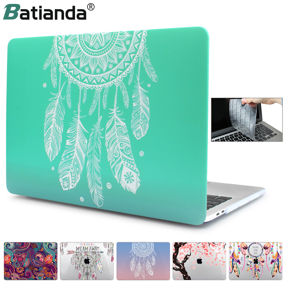 Green Dream Catcher Laptop Hülle für Apple Macbook Pro Retina 12 13 New Air 11 13 mit Retina-Berührungsleiste ID A1466 A1932