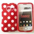 Hot ponto de bolinhas tpu capa soft case para samsung galaxy ace duos s6802 phone case livre