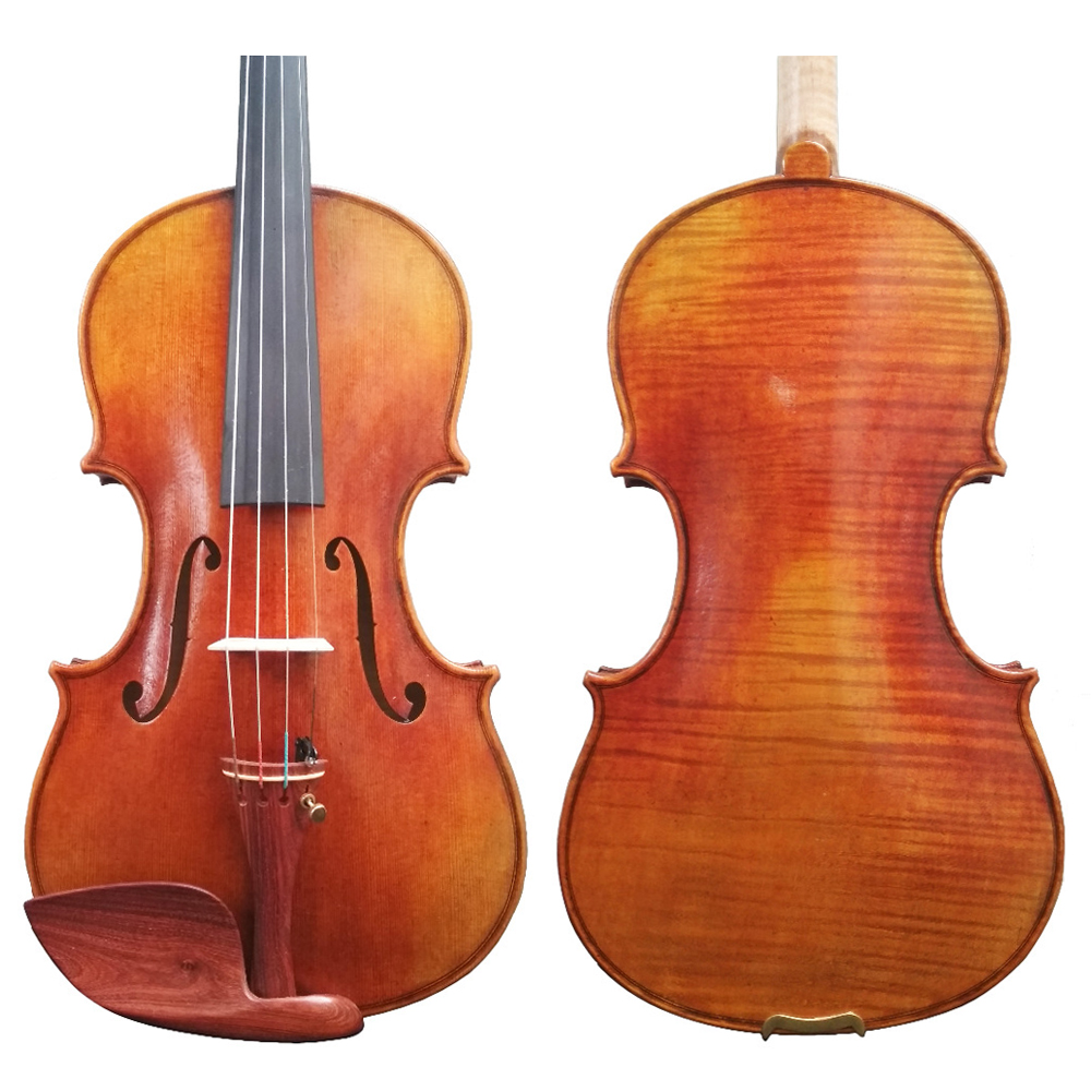 Free Shipping 100% Handmade Oil Varnish Violin FPVN03 One Piece Back with Foam Case and Carbon Fiber Bow 1 piece free shipping anodizing aluminium amplifiers black wall mounted distribution case 80x234x250mm