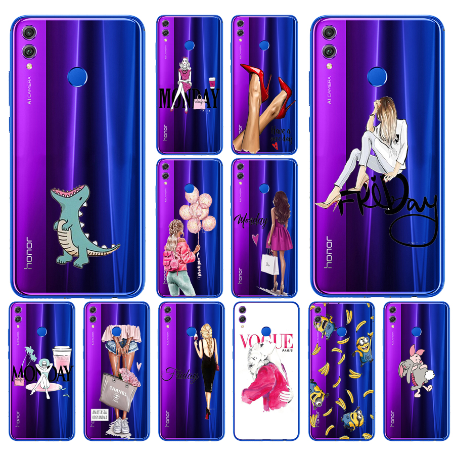 11SX silicone <font><b>case</b></font> for huawei <font><b>honor</b></font> <font><b>8x</b></font> <font><b>Case</b></font> 6.5 inch Soft TPU Back Cover for huawei <font><b>honor</b></font> <font><b>8x</b></font> Protect Phone shell Coque painting image