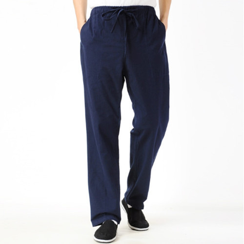 High Quality New Arrival Men Martial Arts Pants Kung Fu Tai Chi Cotton Trousers