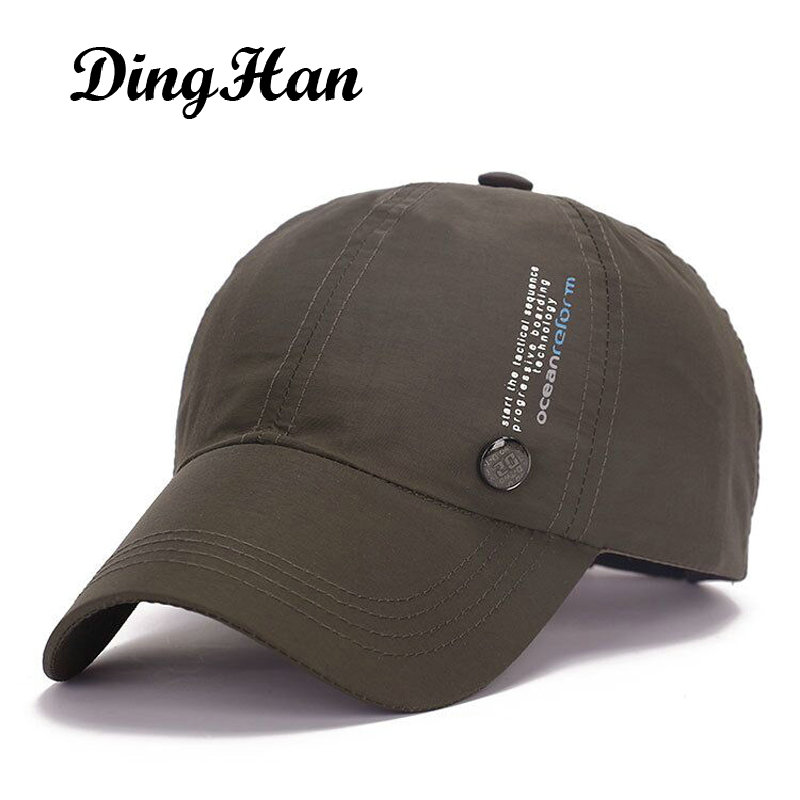 [DingHan] Brand Unisex Sun Hat Quick Drying Baseball Cap Men Women Hip Hop Gorras Planas Hat Breathable Snapback Caps Adjustable showersmile brand sherlock holmes detective hat unisex cosplay accessories men women child two brims baseball cap deerstalker