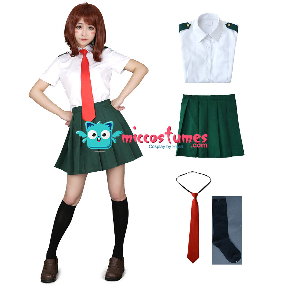 My Hero Academia Summer School Uniform Cosplay Costume for Women with Tie