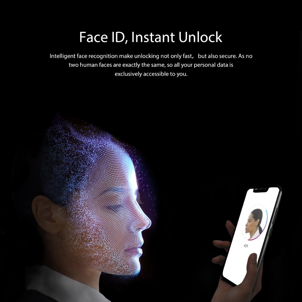 Blackview A30 5.5 pouces 19:9 Smartphone plein écran MTK6580A Quad Core 3G téléphone portable avec identification faciale 2GB + 16GB Android 8.1 double SIM - 3