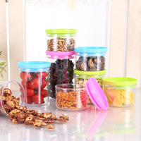 4Pcs Set Green Plastic Can Be Stacked With Cereal Grains Sealed Tank Storage Cans Keep Fresh