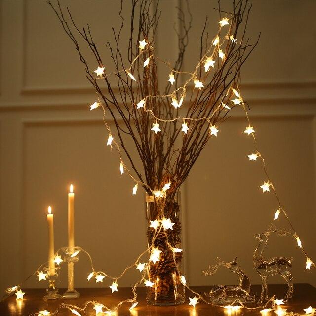 Weihnachtsbeleuchtung Led Batterie.Us 5 4 Led Batterie Twinkle Fee Star String Weihnachtsbeleuchtung Urlaub Zimmer Party Hochzeit Dekorative Vorhang Dekoration In Led Batterie