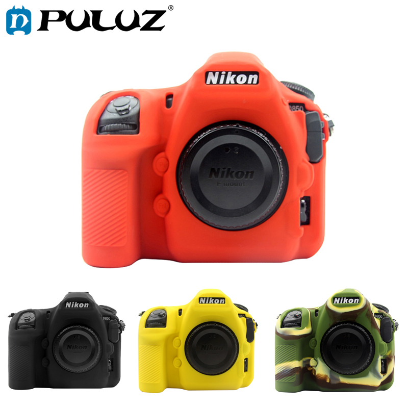 PULUZ Soft Silicone Rubber Camera Protective Body Cover Case Skin Case for Nikon D850 DSLR Camera Bag protector Cover 100pcs a lot wholesale silicone case skin shell protective cover for wii for u gamepad protector full body
