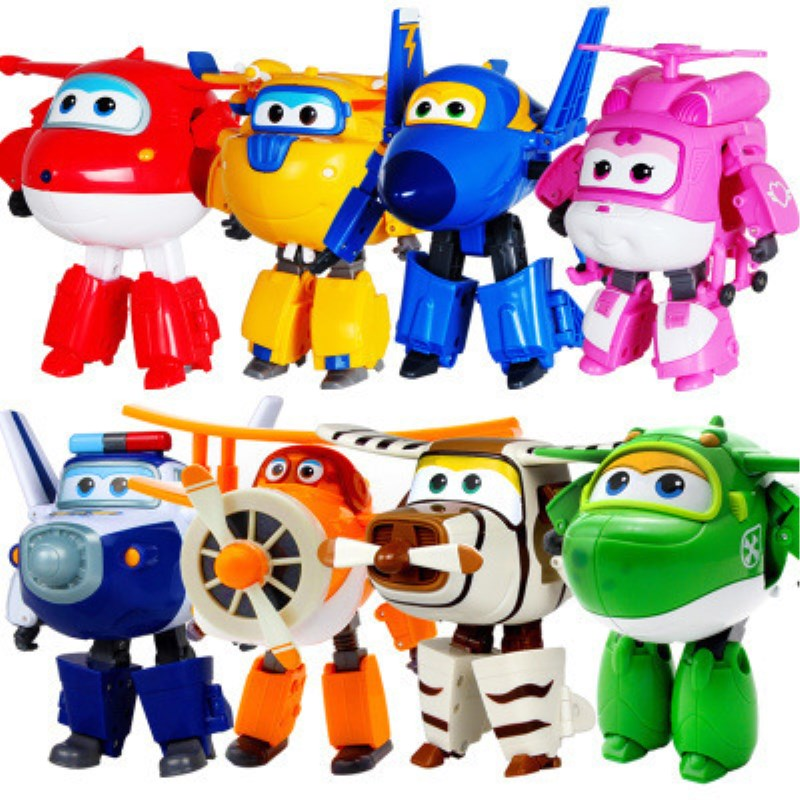 Anime Cartoon Toys Transformation Action-Figure-Toys Robot Airplane Super-Wings Boys