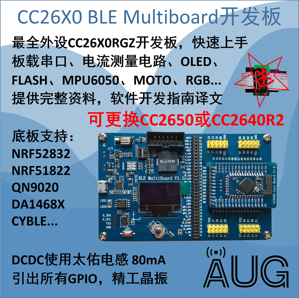 где купить BLE MultiBoard+CC2650 CC2640 Development Board / Rich Peripherals / Strong Support дешево