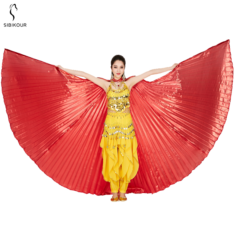 HTB1iuCwbLWG3KVjSZPcq6zkbXXal - Belly Dance Isis Wings Belly Dance Accessory Bollywood Oriental Egypt Egyptian Wings Costume With Sticks Adult Women Gold