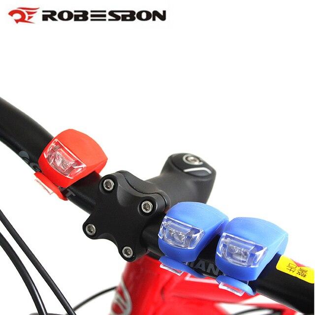 2pcs Waterproof Cycling Bicycle LED Lamp MTB Bike Silicone Headlight ...
