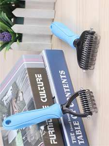 Hair Removal Comb for Dogs Cat Detangler Fur Trimming Dematting Deshedding Brush Grooming