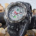 EPOZZ brand men sports watches dual display analog digital LED Electronic quartz watches 50M waterproof swimming watch Relogio