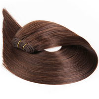 Beauty On Line Malaysian Hair Straight Light Brown Color 4 Remy Hair Weaving 18 24 100G