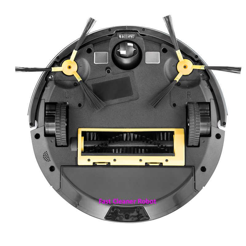 Robot aspirador con Monitor de vídeo para cámara aspirador húmedo y seco con navegación por mapa, Control de aplicación WiFi, memoria inteligente, tanque de agua