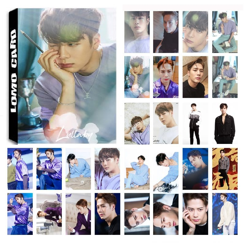 30Pcs/set KPOP GOT7 JACKSON Single 06 Album Lullaby HD Photo Card PVC Self Made LOMO Photocard