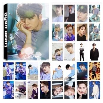 цена на 30Pcs/set KPOP GOT7 JACKSON Single 06 Album Lullaby HD Photo Card PVC Self Made LOMO Photocard