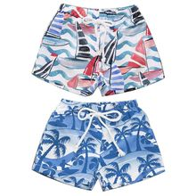 цена на Fashion Children Kids Shorts Hawaiian Style Beach Print Beach Pants Cute Boys Summer Swimming Wear