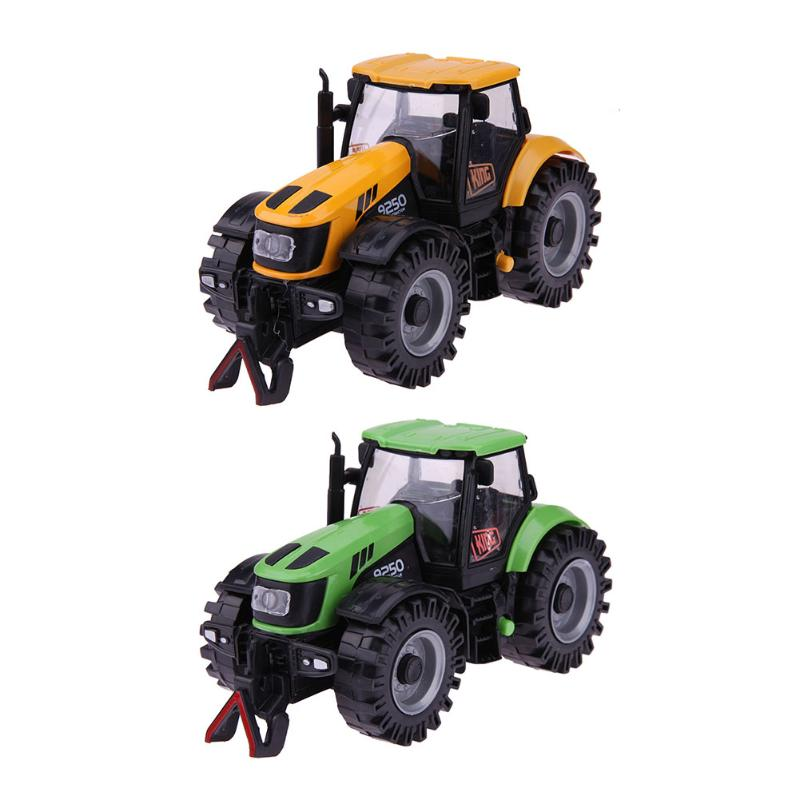1:28 Pullback Tractor Farmer Car Alloy Models Toy Car Tractor Educational Model Car Xmas Gift for Kids