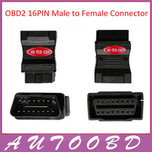 OBD2 16 Pin Male to Female Connector Adapter Diagnostic OBD II Plug Adapter Connector