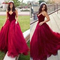 Красные длинные вечерние платья вечерние женские бархатные платья больших размеров Формальное вечернее платье