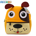 MAIHOO Neoprene waterproof cartoon DOG animal shaped boy girl backpack children double shoulder school bag kid backpack Mochila