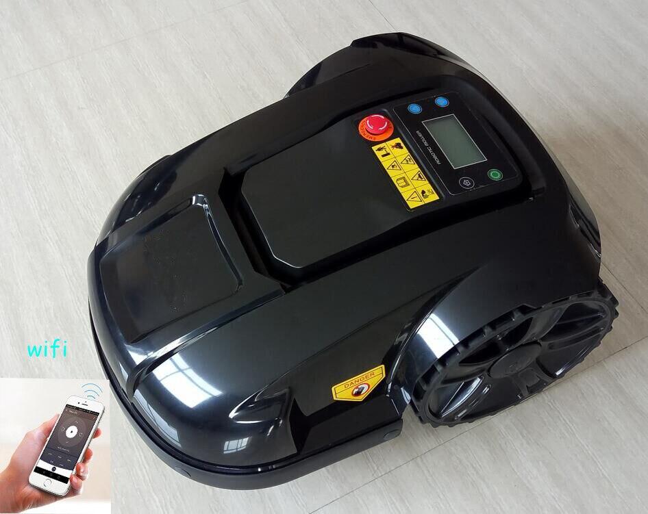 Controle WI-FI robô gramado motor auto cortador de vidro à prova d' água com display LED, o Tempo de set-up do sistema