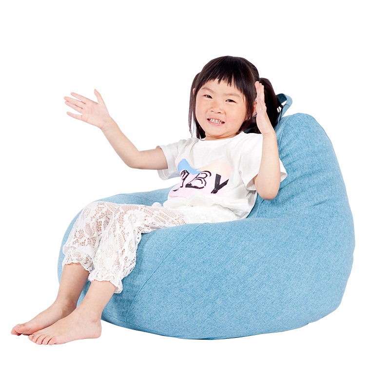 Kids Bean Bag Cover No Filler Creative Beanbag Chair Living Room Bedroom Kids Sofa Lazy Tatami Sofa Bed Single Puff Pouf Couch