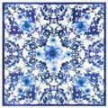 60*60 cm Primavera y el otoño de estilo Chino retro azul y blanco de porcelana bufanda de seda para Las Señoras bolso bufanda caliente para wome lic A004