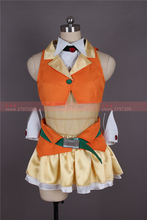 VOCALOID Hatsune Miku gumi cosplay costume Halloween Cosplay Uniform dress free shipping custom made