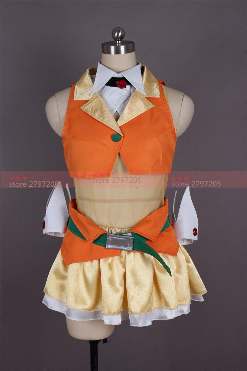 VOCALOID Hatsune Miku gumi cosplay costume Halloween Cosplay Uniform dress free shipping custom made shipping fashion vocaloid hatsune miku green cosplay 80cm long wavy wig 2clip on ponytail