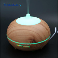 TSUNDERE L Wood Essential Oil Diffuser Ultrasonic Aromatherapy Air Humidifier Aroma Diffuser 300ML Colorful LED Lamp