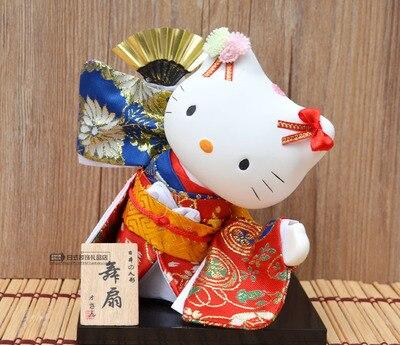 Kimono chat japonais Kimono et argent décoration poupée mannequin tatami hôtel fournitures chat statue décoration de la maison