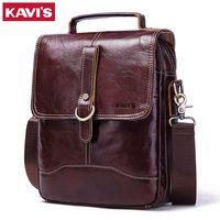KAVIS 100% High Quality Messenger Bag Men's Genuine Leather Shoulder Male Bag Crossbody Handbag Bolsas Sling Chest Clutch Sac