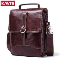 KAVIS 100% High Quality Messenger Bag Men's Genuine Leather Shoulder Male Bag Crossbody Handbag Bolsas Sling Chest Clutch Sac