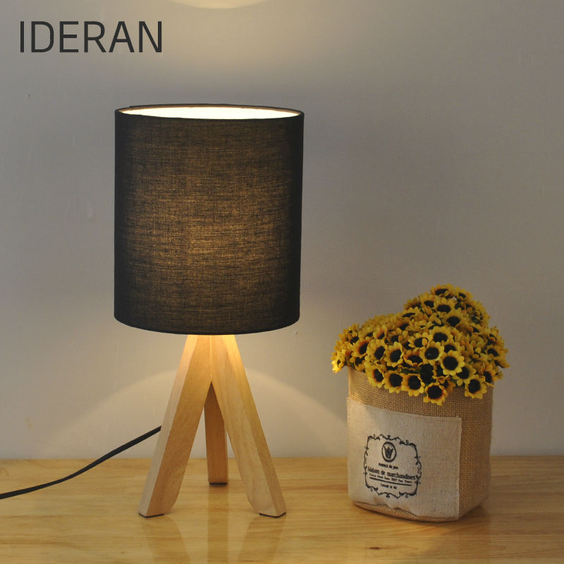 ФОТО 2 color cloth shade  table lamp  modern wood desk lighting to protect  decorative table lamp bedside lamp vision