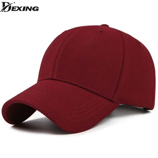 d952ff8ae4d Spandex Elastic Fitted Baseball Cap men Casual Snapback Caps Women Trucker  Casquette Dad Hat red color