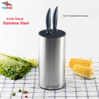 findking 23*11.2*11.2cm Universal Stainless Steel Knife Holder knife block knife stand