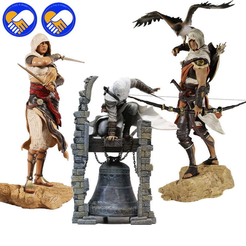 Assassin's Creeds Altair The Legendary Origins Buyck Aya Connor Cazador, Assassin PVC Statue Figure Model Doll Toy Collection the modern metropolis – its origins growth characteristics