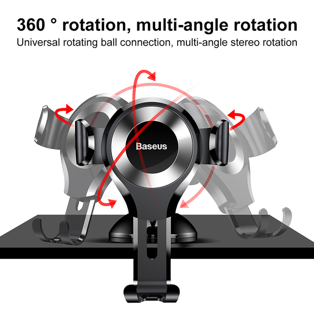 Baseus Gravity Car Phone Holder For iPhone 11 Pro Max Samsung Suction Cup Car Holder For Phone in Car Mobile Phone Holder Stand 3