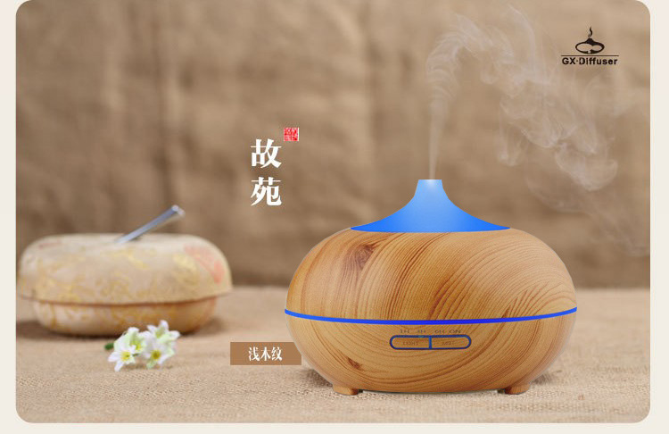 GX01-6,Colorful Ultrasonic Humidifier Essential Oil Diffuser Aroma Lamp Aromatherapy Electric Aroma,Mist Maker,AC100-240