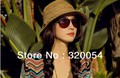 1pcs,Hot seven rainbow stripe straw hat, fashion lady Bohemia summer sun hat, Wholesale and retail, free shipping