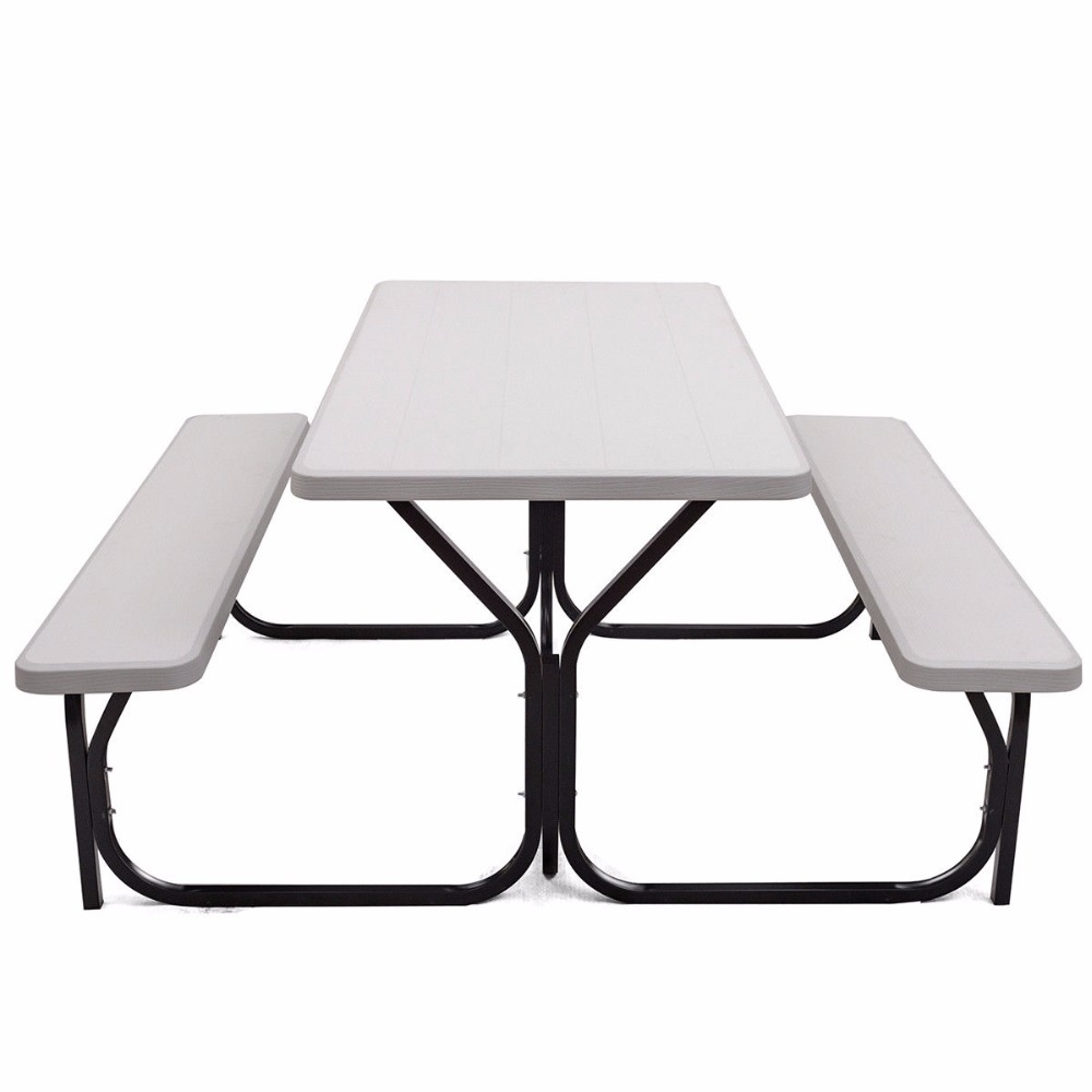 Giantex <font><b>Picnic</b></font> Set Outdoor Garden Weather Outdoor Furniture OP3499WH