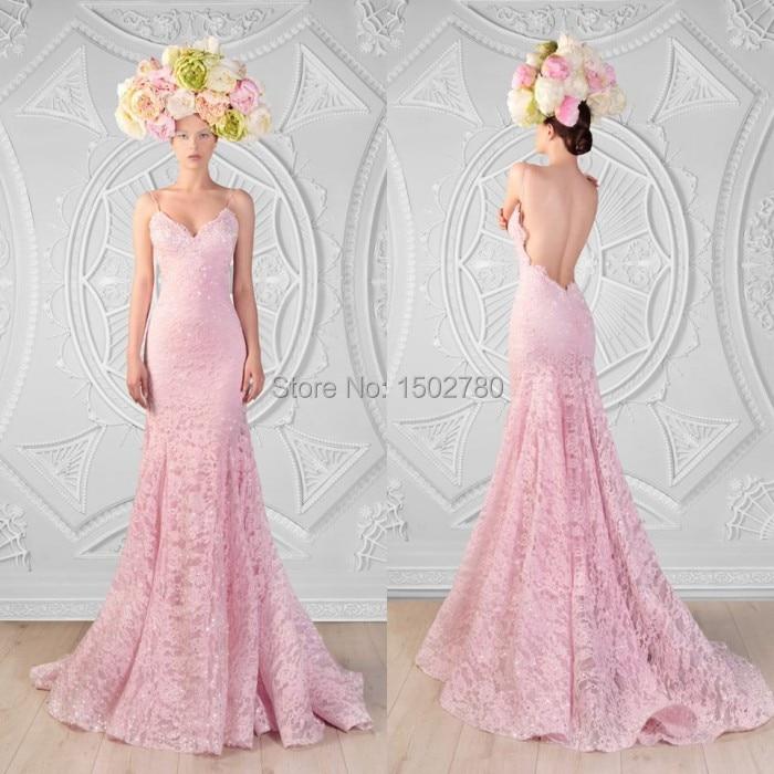 Envío gratuito de color rosa correa de espagueti del vestido sin ...